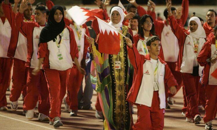 bahrain athletes march