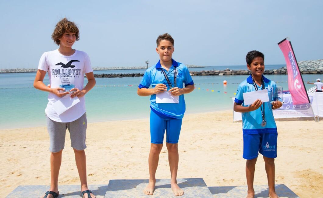 open water swimming awarding ceremonies