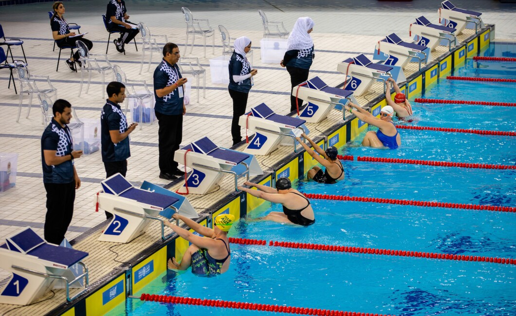 100m Breaststroke Swimming Competition