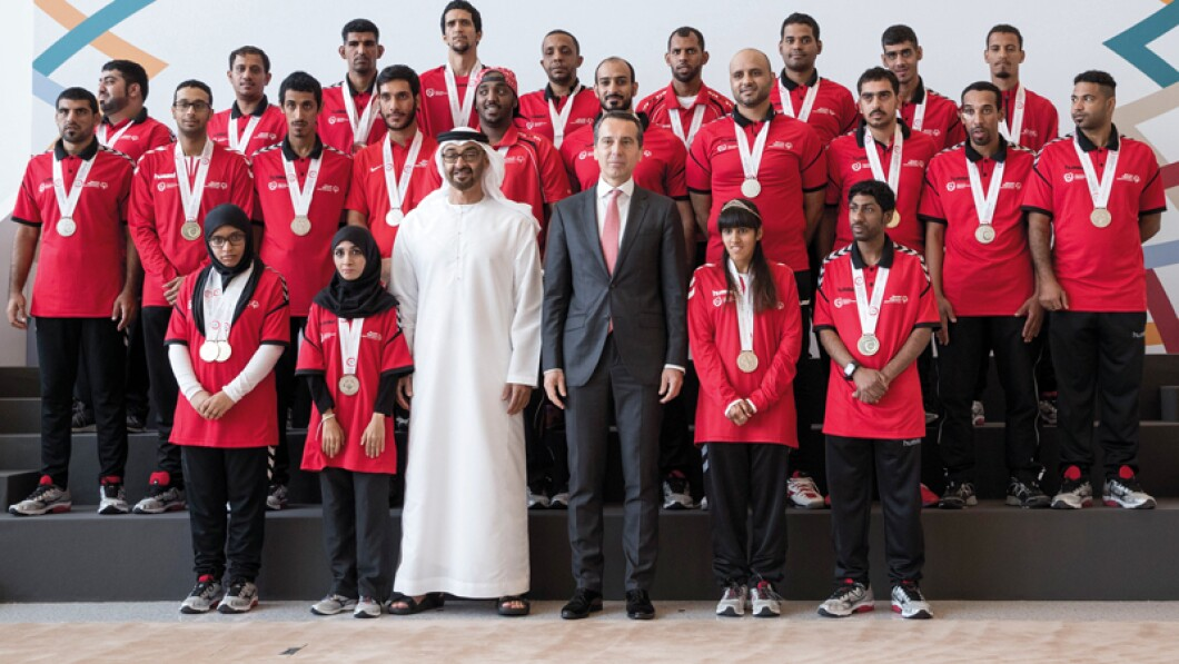 Mohamed Bin Zayed Al Nahyan and athletes