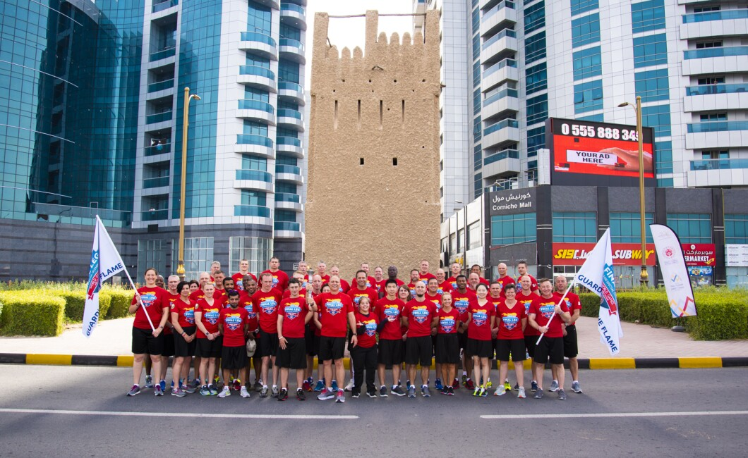 LAW ENFORCEMENT TORCH RUN UAE FINAL LEG - AJMAN