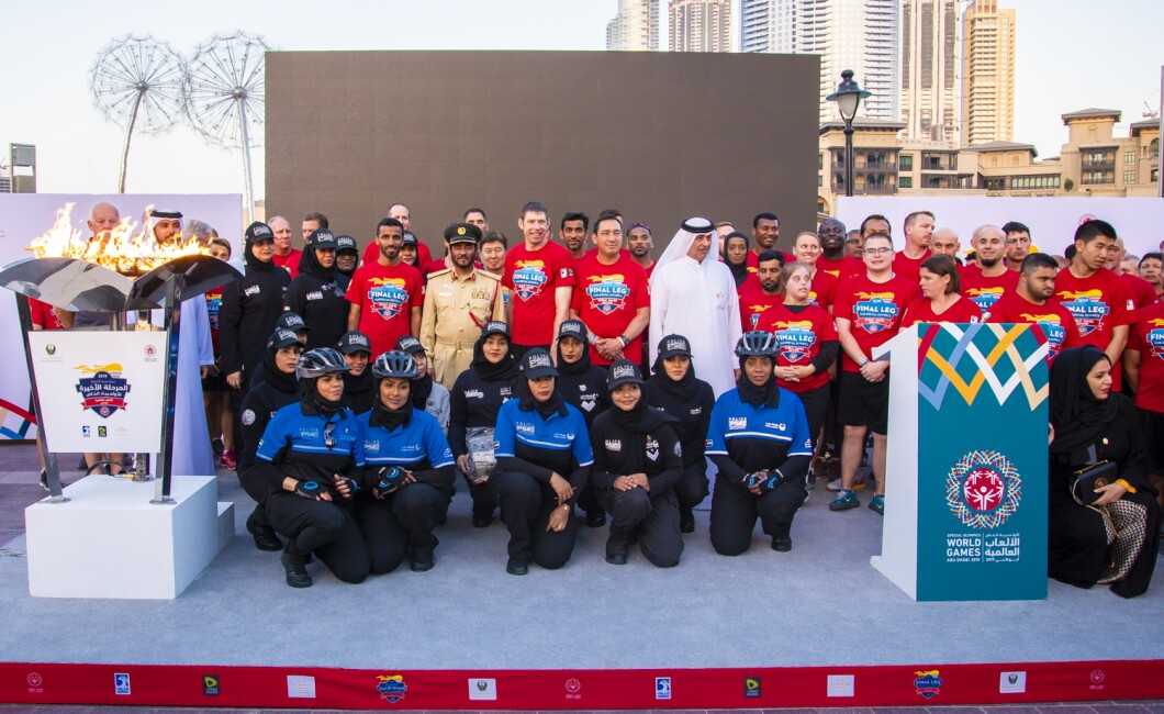 LAW ENFORCEMENT TORCH RUN UAE FINAL LEG - D