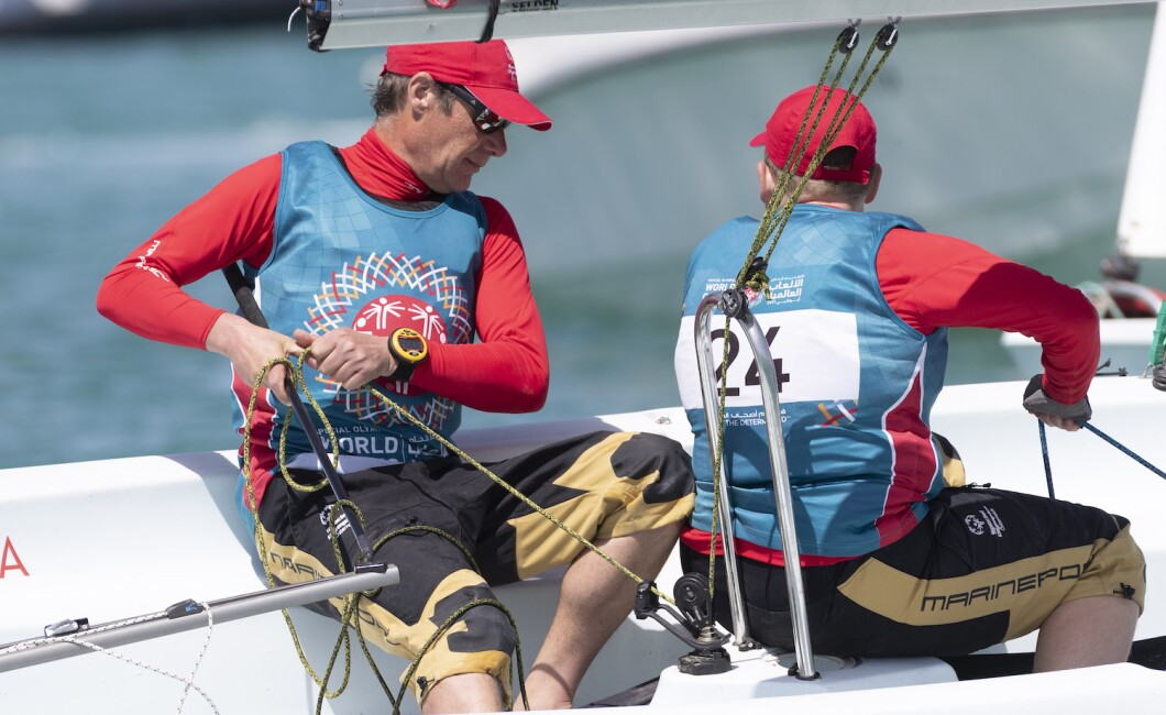 sailing sports competition at abu dhabi sailing and yacht club