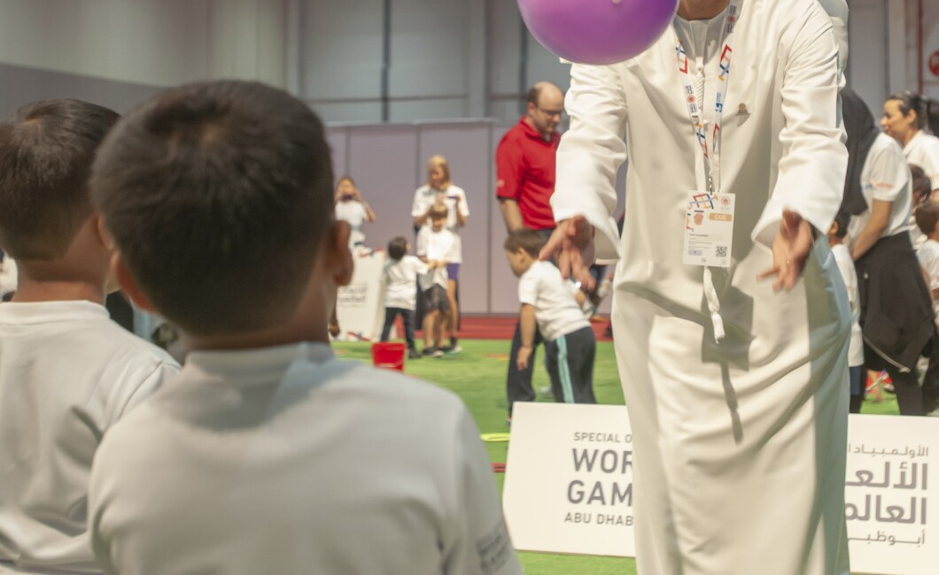 young athletes at the Special Olympics World Games Abu Dhabi 2019